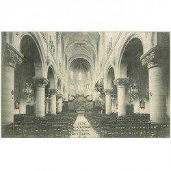 carte postale ancienne 92 SAINT CLOUD. Intérieur de l'Eglise 1910
