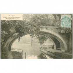 carte postale ancienne 92 SAINT CLOUD. Etang de Villeneuve au Parc vers 1905