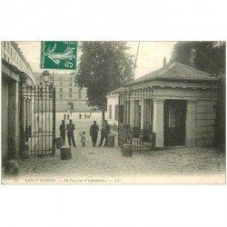carte postale ancienne 92 SAINT CLOUD. Caserne d'Infanterie 1909 avec Militaires