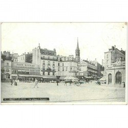 carte postale ancienne 92 SAINT CLOUD. Café Rouyat sur la Place d'Armes Restaurant de la Gare
