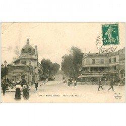 carte postale ancienne 92 SAINT CLOUD. Avenue du Palais Civette et Café Restaurant. Pli coin gauche