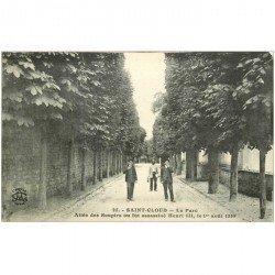 carte postale ancienne 92 SAINT CLOUD. Allée des Soupirs au Parc où fut assassiné Henri III