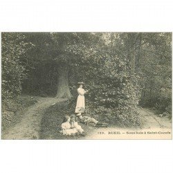 carte postale ancienne 92 RUEIL. Sous bois à Saint Cucufa