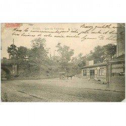 carte postale ancienne 92 RUEIL. Gare du Tramway 1904. Défaut bord et coins droit ...