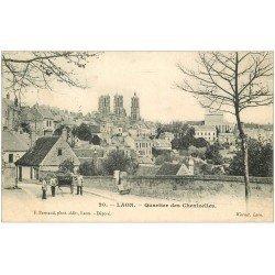carte postale ancienne 02 LAON. Quartier des Chenizelles 1905