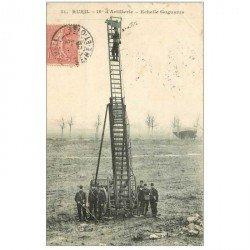 carte postale ancienne 92 RUEIL. Echelle Gugumus du 16° Artillerie 1905