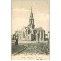 carte postale ancienne 92 RUEIL MALMAISON. Eglise vue de l'Ecole
