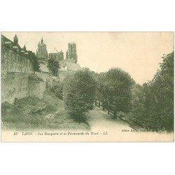 carte postale ancienne 02 LAON. Remparts et Promenade 1935