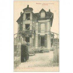 carte postale ancienne 92 MEUDON. La Grotte Parc des Grimettes 1906