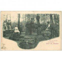 carte postale ancienne 92 MEUDON. Forêt. Les Menhirs Bois de Chaville 1904