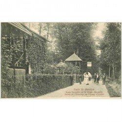 carte postale ancienne 92 MEUDON. Forêt. Ermitage Etang Ursine Route forestière de Morte Bouteille vers 1900