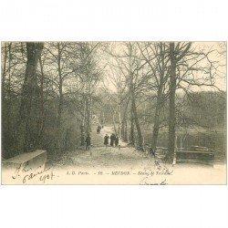 carte postale ancienne 92 MEUDON. Etang de Trivaux 1904