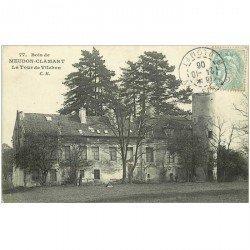 carte postale ancienne 92 MEUDON. Bois Clamart. La Tour de Villebon 1906