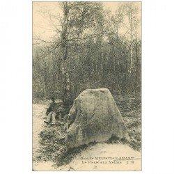 carte postale ancienne 92 MEUDON. Bois Clamart. La Pierre aux Moines