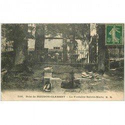 carte postale ancienne 92 MEUDON. Bois Clamart. Fontaine Sainte Marie 1922