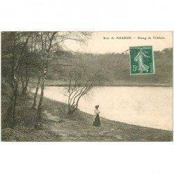 carte postale ancienne 92 MEUDON. Bois Clamart. Etang de Villebon 1909