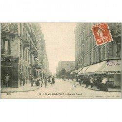 carte postale ancienne 92 LEVALLOIS PERRET. Rue de Gravel 1910 Café de la Mairie