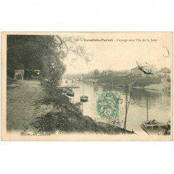 carte postale ancienne 92 LEVALLOIS PERRET. Ile de la Jatte 1907