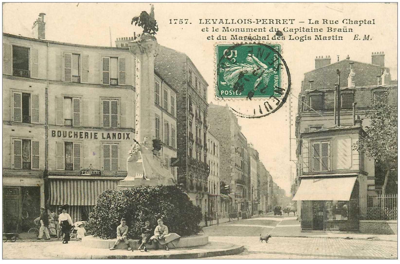 92 levallois perret boucherie lanoix rue chaptal 1912. Black Bedroom Furniture Sets. Home Design Ideas