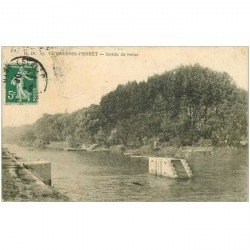 carte postale ancienne 92 LEVALLOIS PERRET. Bords de Seine 1908