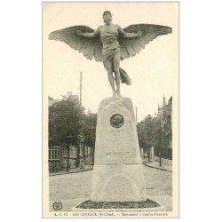 carte postale ancienne 92 LES COTEAUX. Monument à Santos Dumont. Saint Cloud