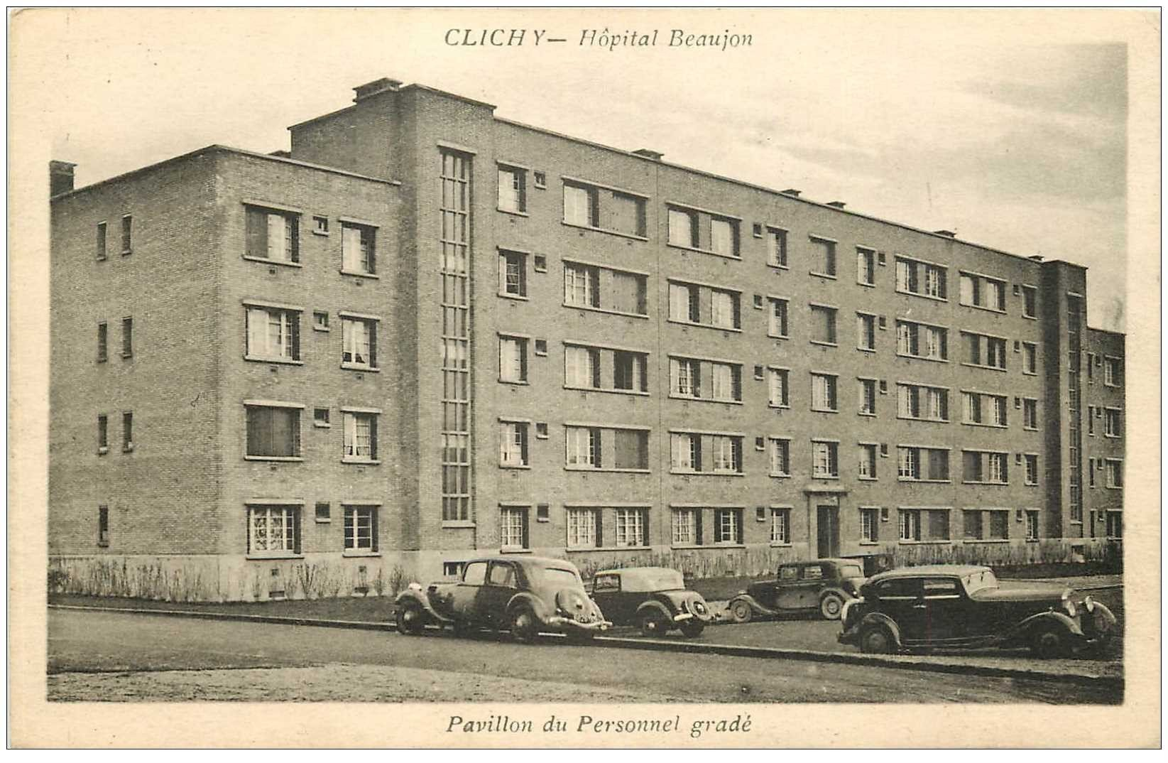 carte postale ancienne 92 CLICHY. Voitures traction avant au Pavillon du Personnel gradé