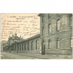 carte postale ancienne 92 CLICHY. Le Groupe Scolaire Victor Hugo 1904
