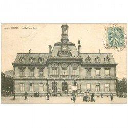carte postale ancienne 92 CLICHY. La Mairie 1905