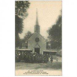 carte postale ancienne 92 CLICHY. Groupe de Pensionnaires en Pélerinage Chapelle Notre Dame des Anges