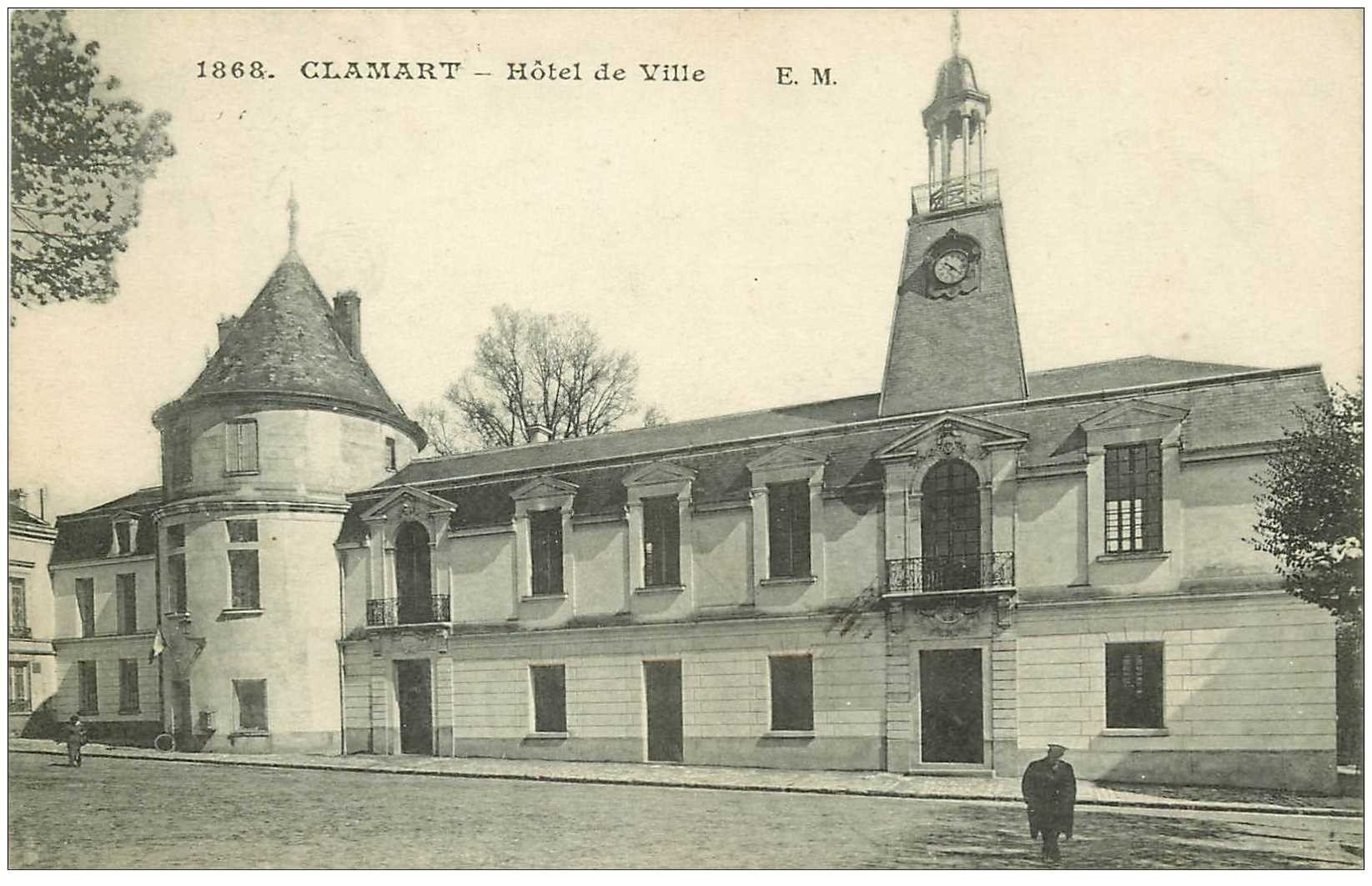 92 Clamart  H U00f4tel De Ville 1922