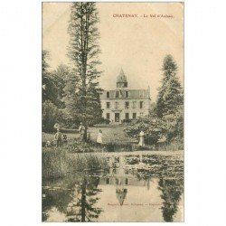 carte postale ancienne 92 CHATENAY MALABRY. Le Val d'Aulnay 1913 belle animation