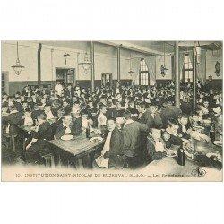 carte postale ancienne 92 BUZENVAL. Institution Saint Nicolas. Les Réfectoires 1909. Rueil