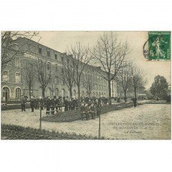 carte postale ancienne 92 BUZENVAL. Institution Saint Nicolas. Le Parterre 1909