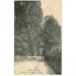 carte postale ancienne 92 BOURG LA REINE. Promenade bords de la Bièvre 1913