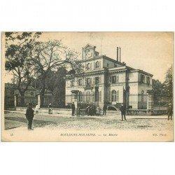 carte postale ancienne 92 BOULOGNE SUR SEINE. La Mairie 1912