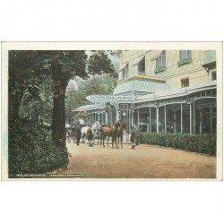carte postale ancienne 92 BOULOGNE SUR SEINE. Attelage au Pavillon d'Armenonville