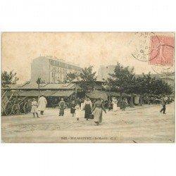carte postale ancienne 92 BILLANCOURT. Le Marché 1905