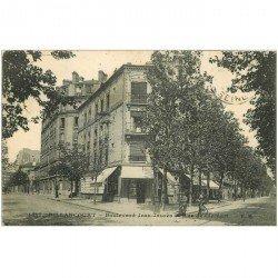 carte postale ancienne 92 BILLANCOURT. Boulevard Jean Jaurès et rue de Clamart 1924