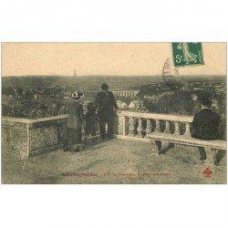 carte postale ancienne 92 BELLEVUE. Vue sur la Tour Eiffel de la Terrasse