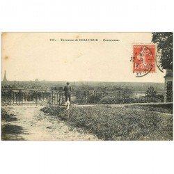 carte postale ancienne 92 BELLEVUE. Terrasse et panorama 1912