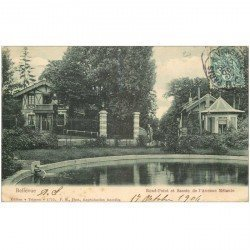 carte postale ancienne 92 BELLEVUE. Rond Point et Bassin Avenue Mélanie 1904