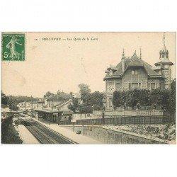 carte postale ancienne 92 BELLEVUE. Les Quais de la Gare