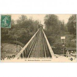 carte postale ancienne 92 BELLEVUE. Le Funiculaire 1909