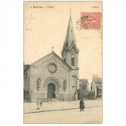 carte postale ancienne 92 BELLEVUE. L'Eglise 1905