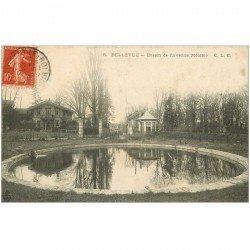 carte postale ancienne 92 BELLEVUE. Bassin de l'Avenue Mélanie 1907