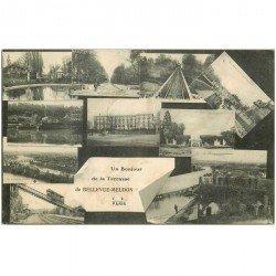 carte postale ancienne 92 BELLEVUE MEUDON. Multivues de la Terrasse