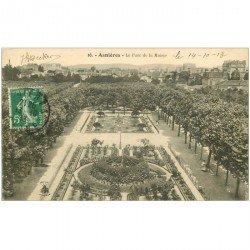 carte postale ancienne 92 ASNIERES SUR SEINE. Parc de la Mairie 1913