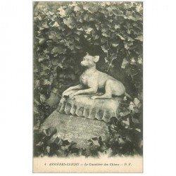 carte postale ancienne 92 ASNIERES SUR SEINE. Cimetière des Chiens. Tiny PF4