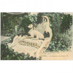 carte postale ancienne 92 ASNIERES SUR SEINE. Cimetière des Chiens. Tiny