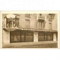carte postale ancienne 92 ASNIERES SUR SEINE. Caisse Epargne de Paris rue de la Concorde